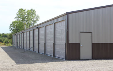 Large Overhead Doors allow for easy access to Storage